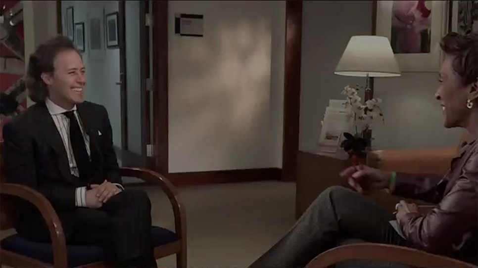 Video of David Lauren talking about the Ralph Lauren Center for Cancer Care