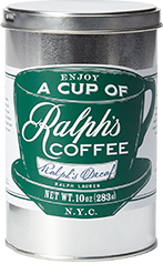 Tin of Ralph's Decaf.